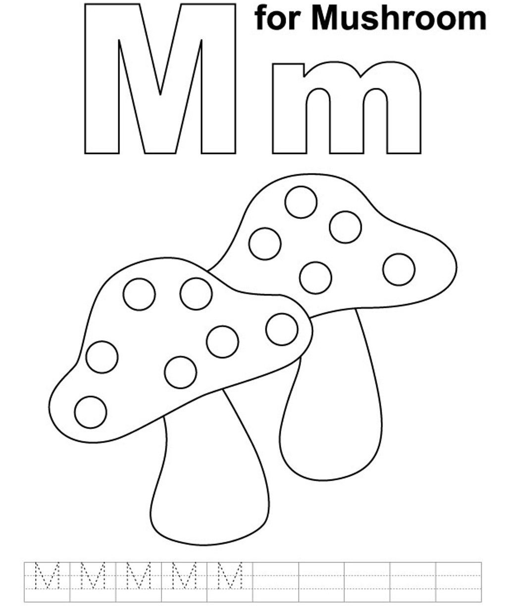 1022x1224 Letter M Coloring Pages Best For Moon Free Printable Kids Monkey