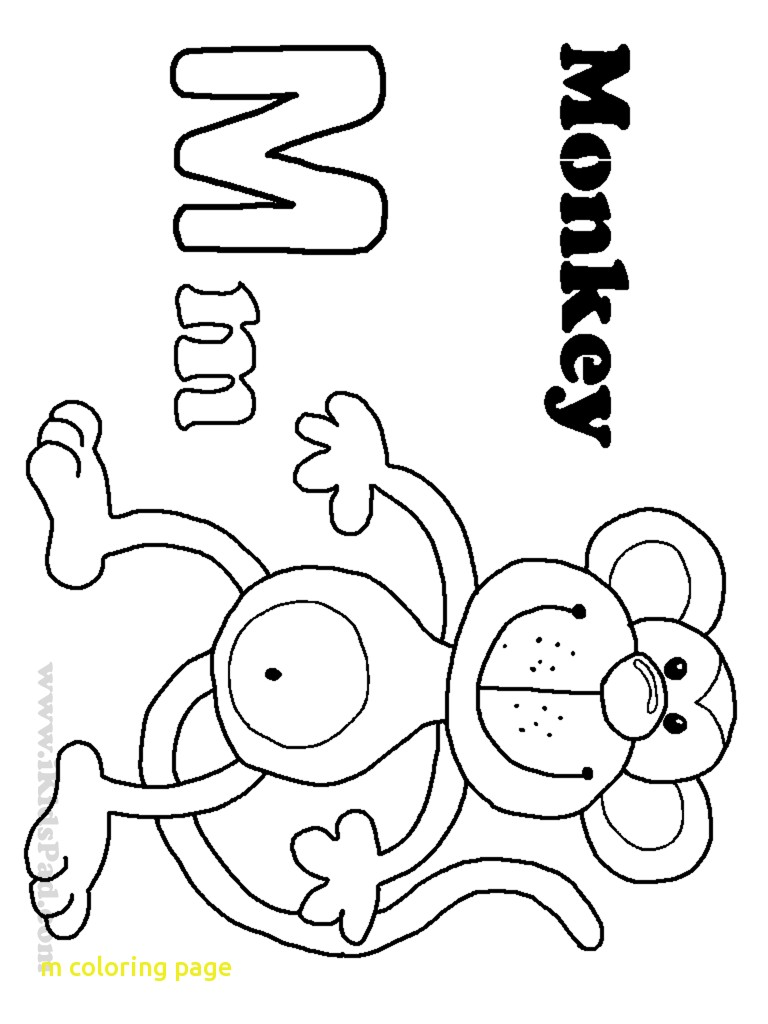 768x1024 Noted Letter M Coloring Sheet Letters And Alphabet Asl Sign