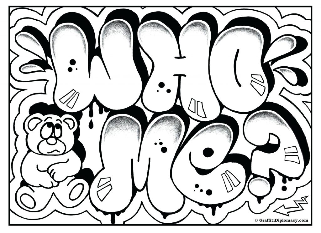 1024x745 Coloring Page Letter M Coloring Page Free Graffiti G Diplomacy T