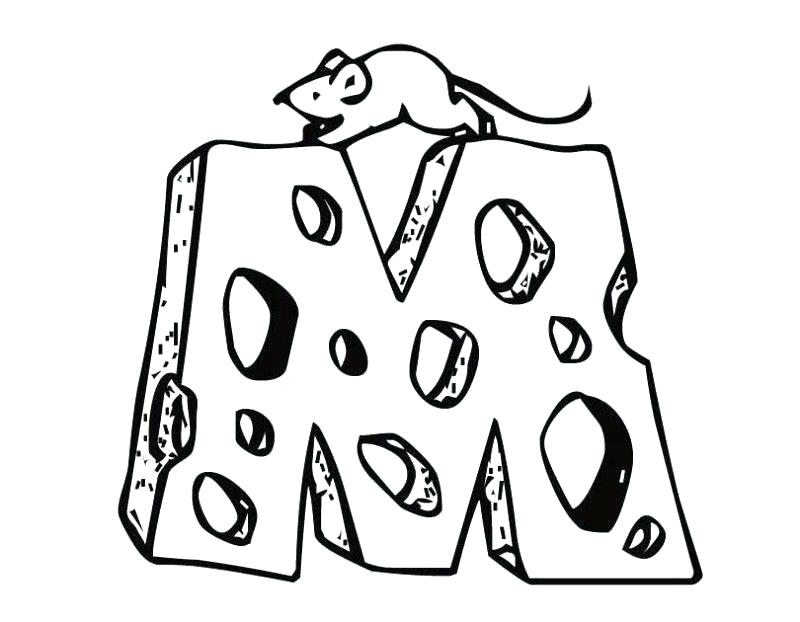 800x622 Cheese Coloring Page M Coloring Page Mouse Cheese Letter M