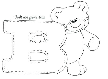 461x338 Letter B Coloring Page Letter B Bear Coloring Page Letter N
