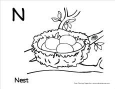 230x178 Letter N Writing And Coloring Sheet