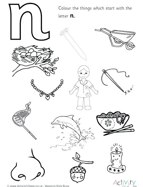 460x600 N Coloring Pages New Lowercase N Coloring Page Coloring Page Pages