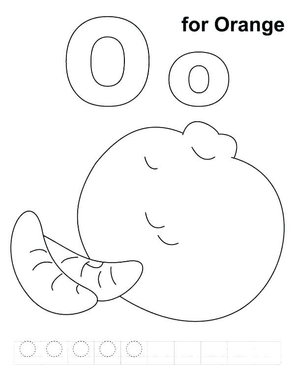 Letter O Coloring Pages At Getdrawings Free Download
