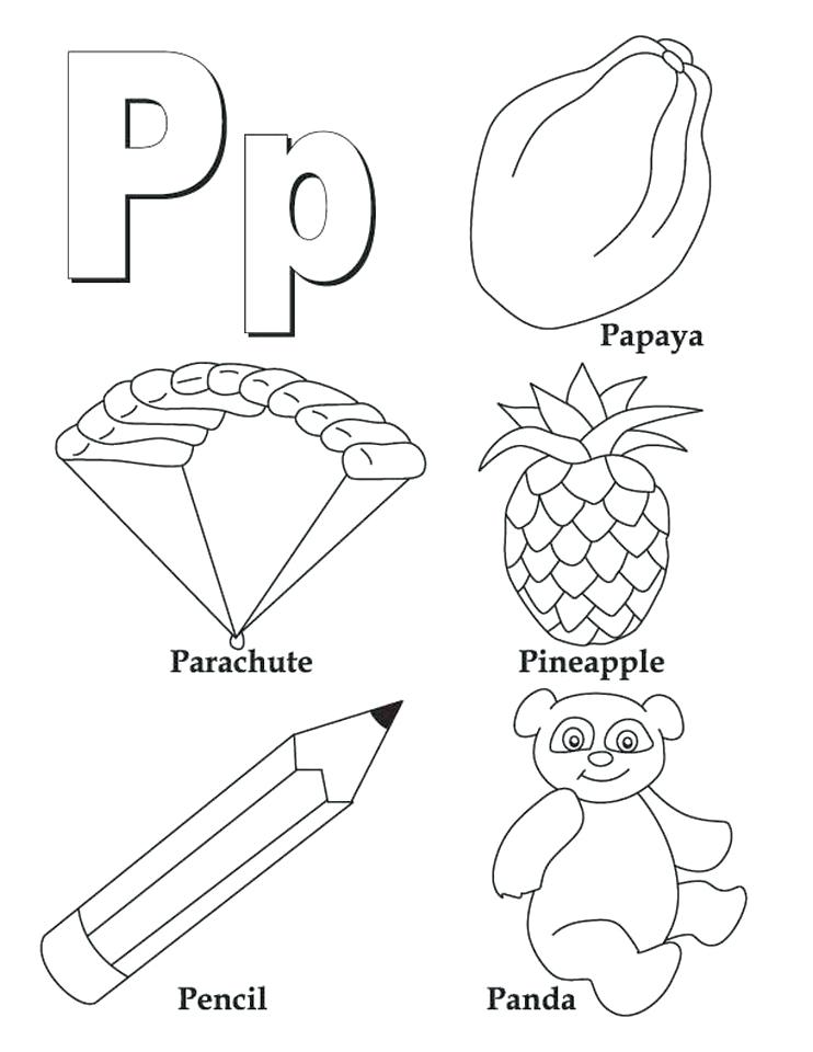 742x960 Letter P Coloring Sheets Ages Letter J Coloring Sheets
