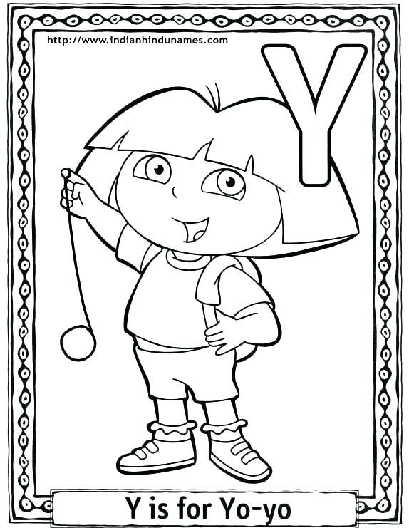 574x741 Letter Y Coloring Pages Alphabet Coloring Pages Preschool Images