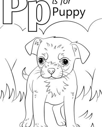 340x425 Preschool Coloring Pages Letter P