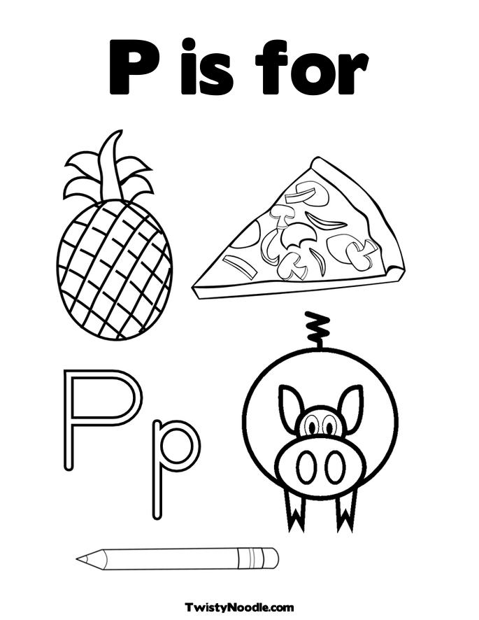 685x886 Letter P Coloring Sheets