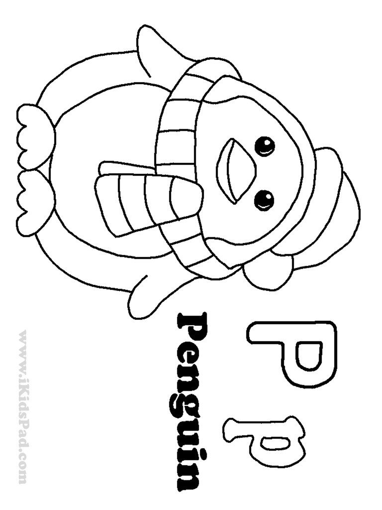 768x1024 Gorgeous Letter P Coloring Pages Preschool For Sweet Letter P