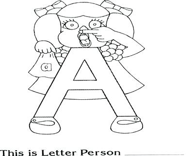 400x322 Letter People Coloring Pages Coloring Trend Thumbnail Size Letter