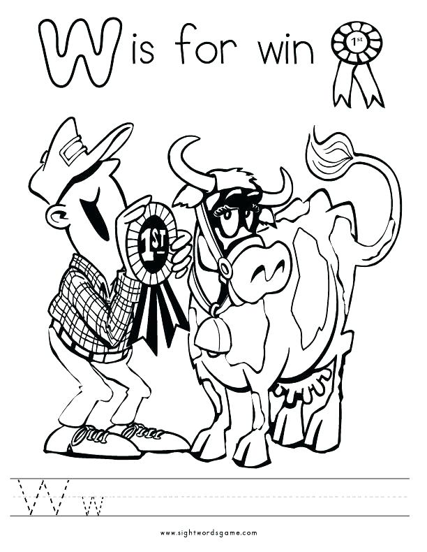 612x790 The Letter People Coloring Pages