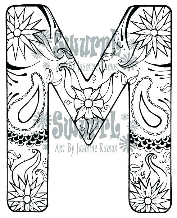 570x701 Letter M Coloring Page Letter People Coloring Pages M Coloring