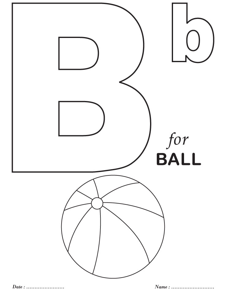 Letter Printable Coloring Pages