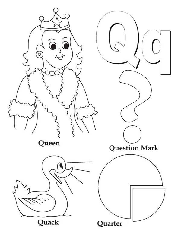 Letter Q Coloring Pages at GetDrawings | Free download