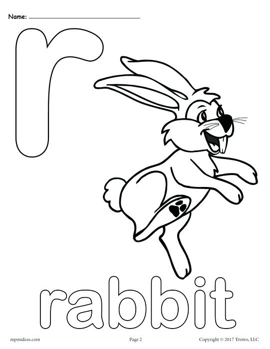 541x700 Letter R Alphabet Coloring Pages Free Printable Versions