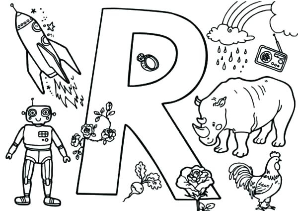 600x424 Letter R Coloring Pages Preschool Letter R Coloring Page Epic R