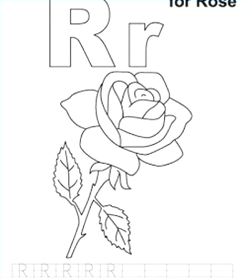 793x900 Letter R For Rabbit Easter Coloring Pages