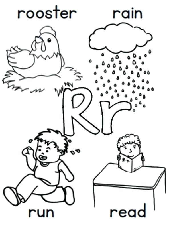 600x856 Letter R Coloring Pages Letter R Coloring Pages The Letter R
