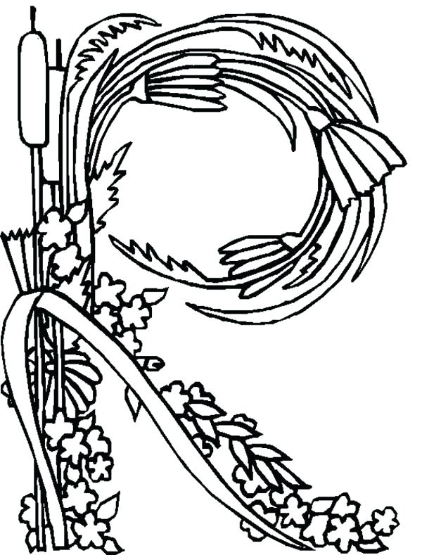 600x789 The Letter R Coloring Page Professional