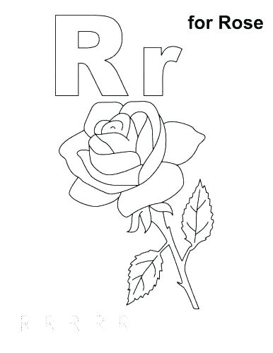 386x500 Coloring Letter Pages Letter R Coloring Letter R Coloring Page