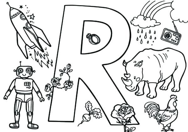 600x424 Letter R Coloring Page Epic R Coloring Page Print Pages Preschool
