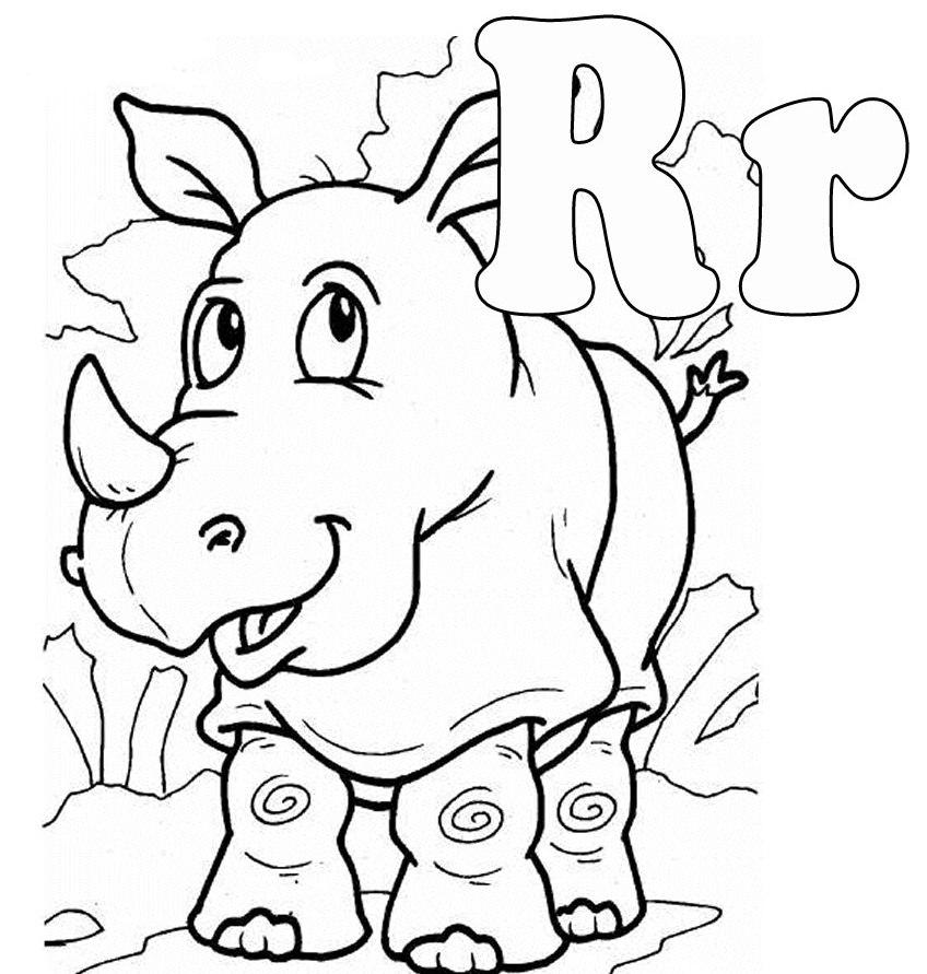 848x891 Animal With Letter R Coloring Page