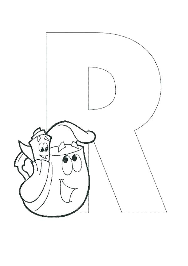 600x848 Letter R Coloring Pages Fresh Letter R Coloring Pages Print