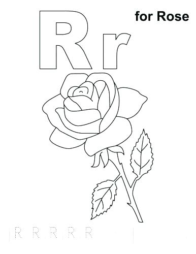 386x500 Letter R Coloring Pages Letter R Coloring Page Coloring Page