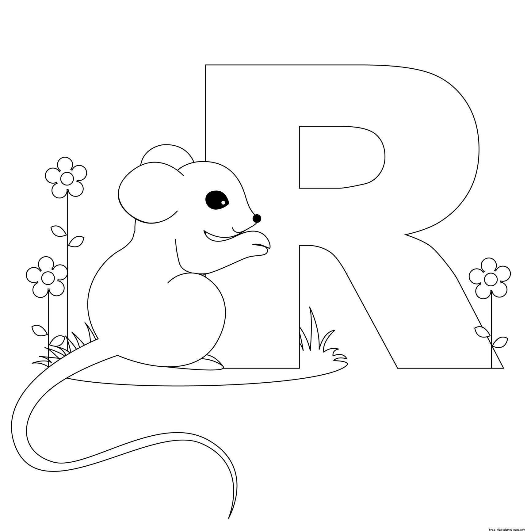 1732x1732 Letter R Coloring Pages Of Alphabet
