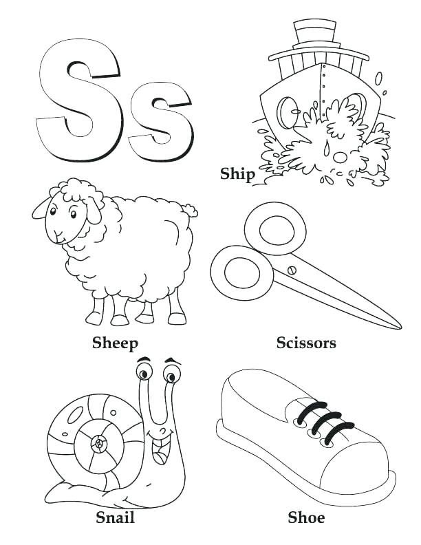 612x792 Letter G Coloring Pages Letter S Coloring Pages Preschool My