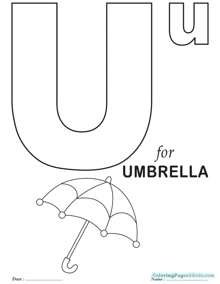 Letter U Coloring Page At Getdrawings Com Free For Personal Use