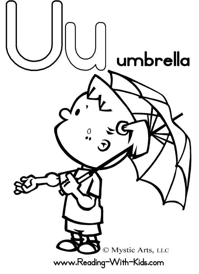 670x922 Letter U Coloring Sheet U Is For Umbrella Underwear