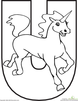 301x391 Letter U Coloring Page Worksheets, Animal And School