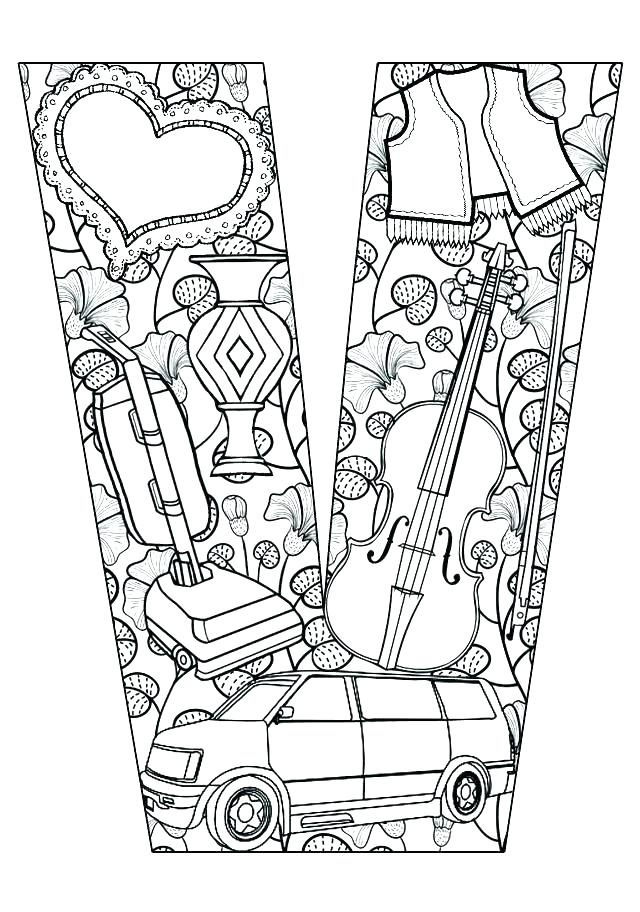 640x912 Letter V Coloring Page V Coloring Page This Is Letter V Coloring