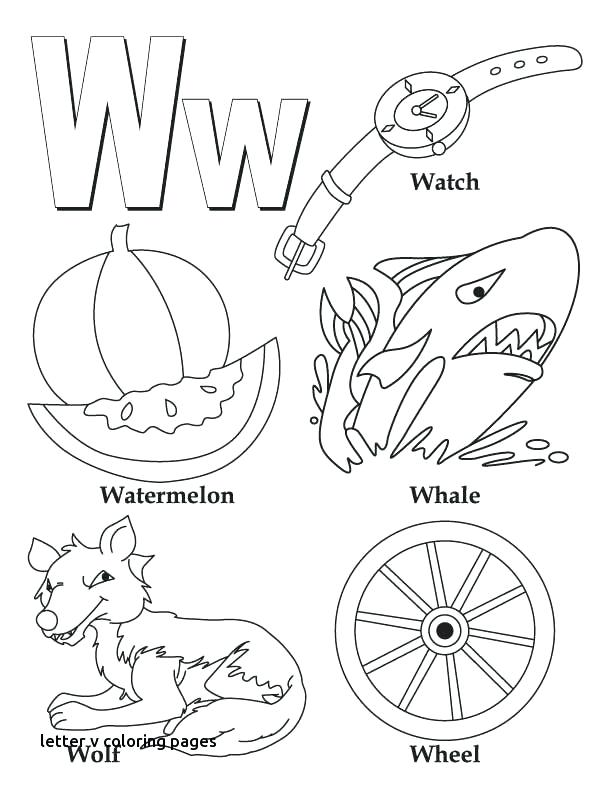 612x792 Letter V Coloring Pages My A To Z Coloring Book Letter W Coloring