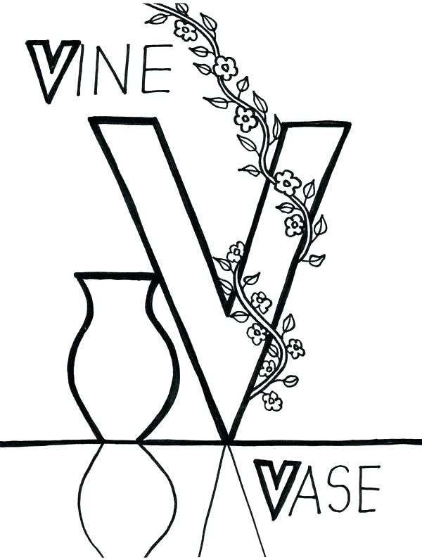 600x796 V Coloring Page Letter V Coloring Page Letter V Coloring Page
