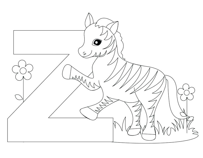 863x671 Zebra Coloring Pages Letter V Coloring Page Coloring Pages