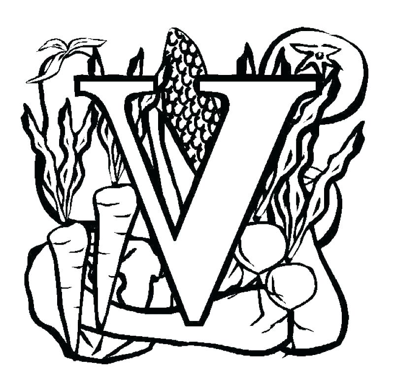 800x787 Letter V Coloring Pages Preschool