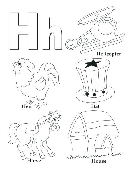 Letter V Coloring Pages Preschool
