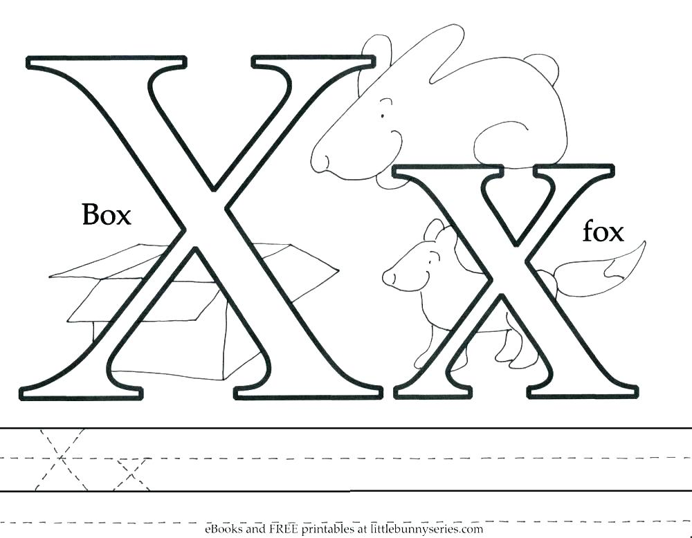 1000x778 Letter O Coloring Pages Kindergarten Letter X Coloring Page Letter