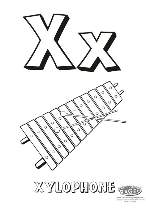 472x678 Letter X Educational Coloring Alphabet My Coloring Page