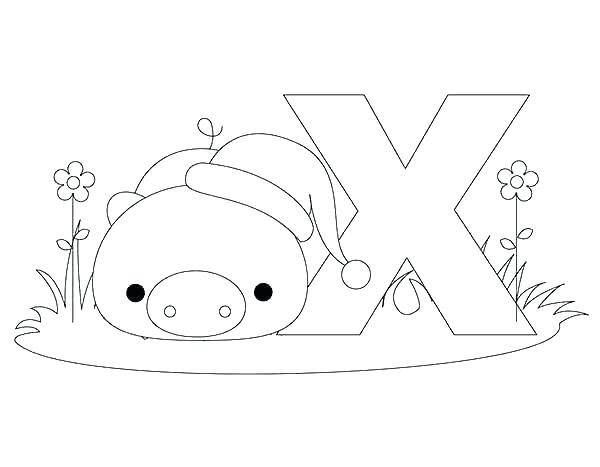 600x467 Letter X Coloring Letter X Coloring Page Letter X Coloring Page
