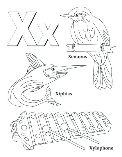 420x543 Letter X Coloring Page Letter X Coloring Page My A To Z Coloring