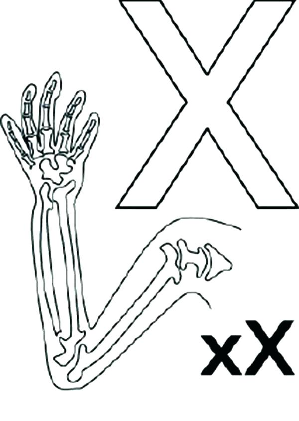 600x845 Letter X Coloring Page Letter X Coloring Page X Coloring Page