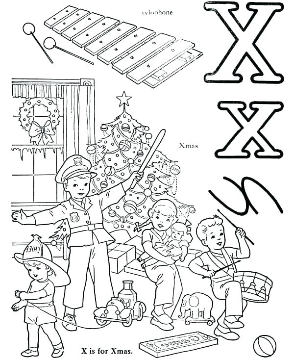 600x734 Letter X Coloring Page The Ground For Letter X Coloring Page