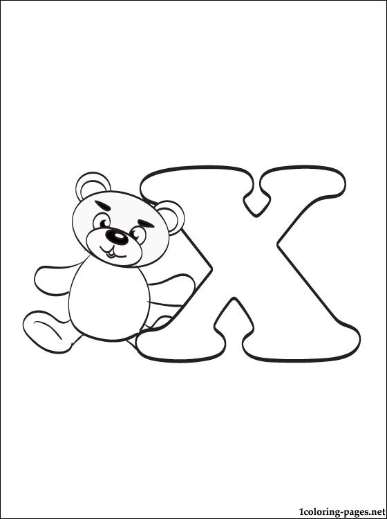 560x750 Letter X Coloring Page Coloring Pages