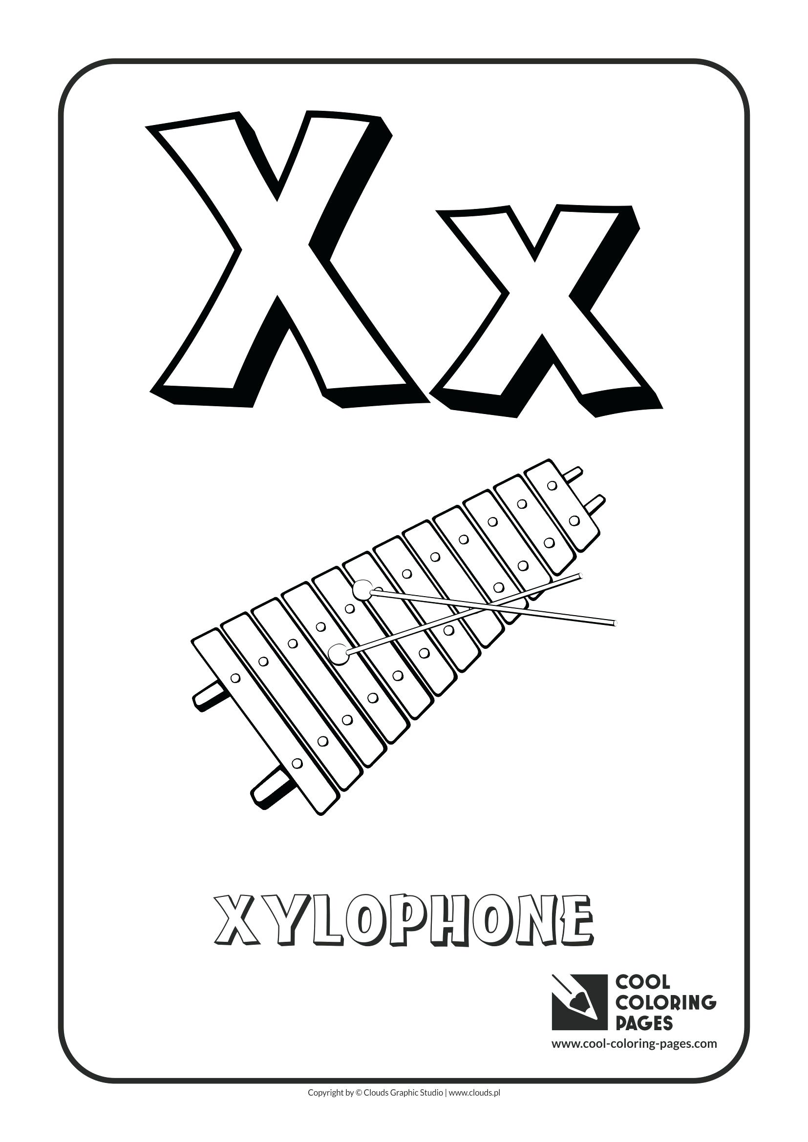1654x2339 New Coloring Letter X Coloring Page