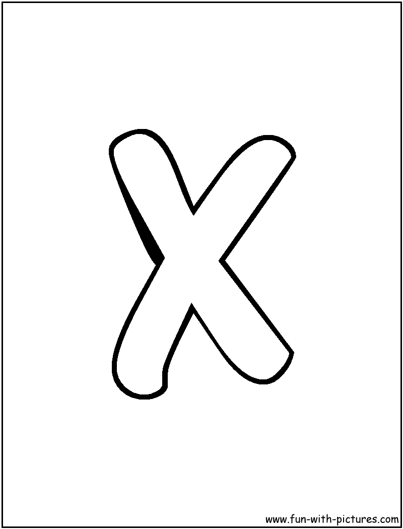 800x1050 Quick Letter X Coloring Pages Page