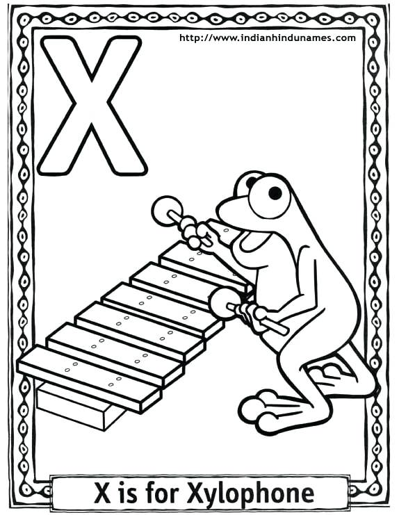 574x741 Letter X Coloring Page
