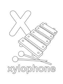 Letter X Coloring Pages Preschool